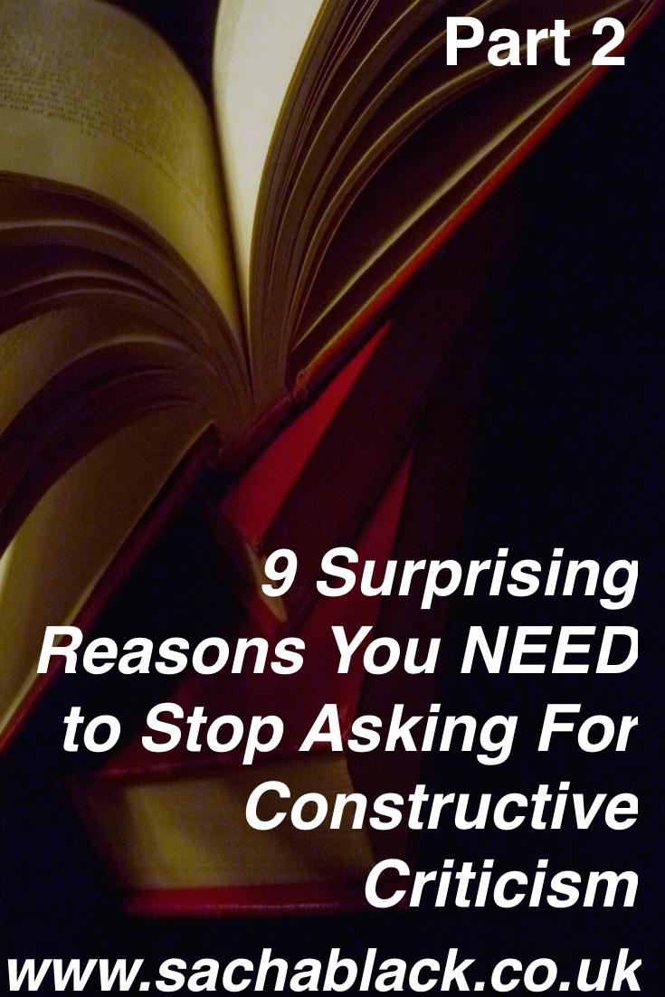 Constructive Criticism is Bad! #2