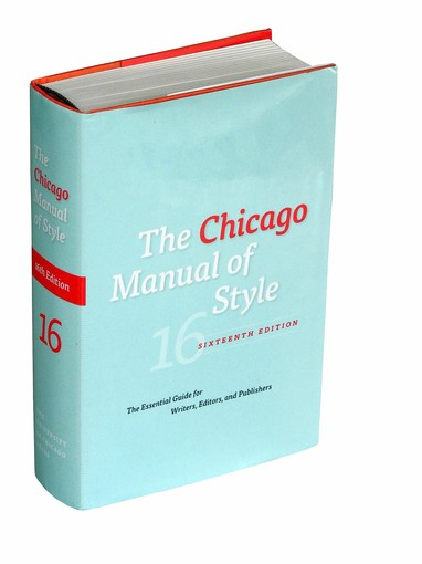"""""""Chicago Manual of Style"""""""