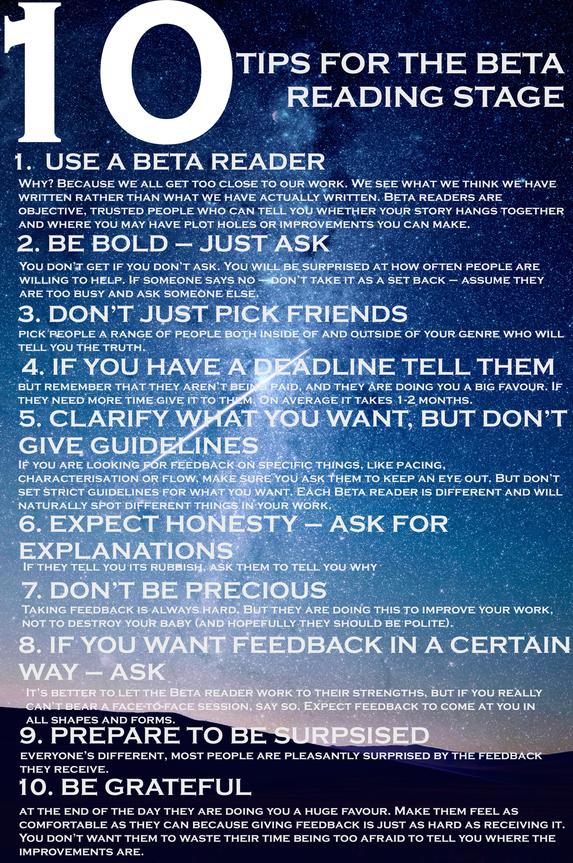 10 Tips for Beta Reading