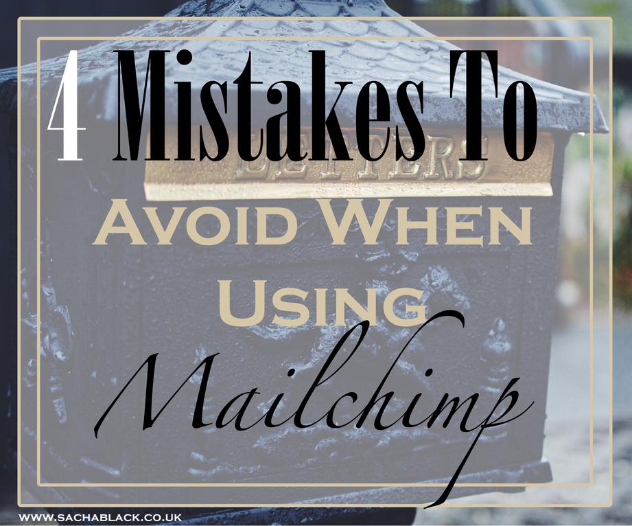 Mailchimp mistakes