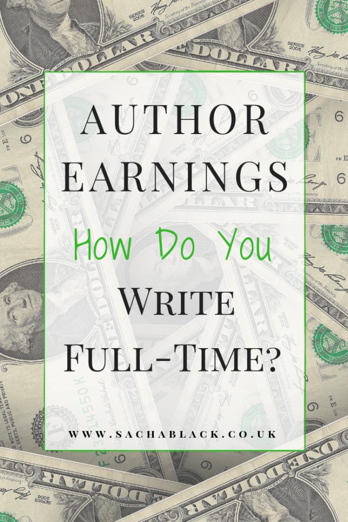 Author earnings - image of money