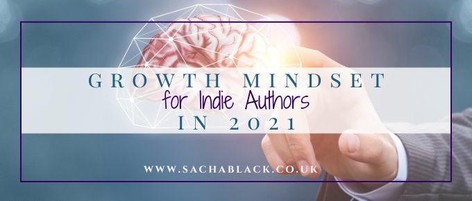 growth mindset for indie authors picture of a brain lit up